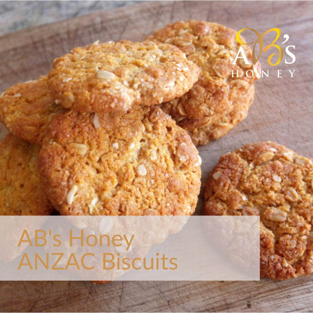 ANZAC Biscuit Recipe with Honey - Ironbark or Yellow Box Honey