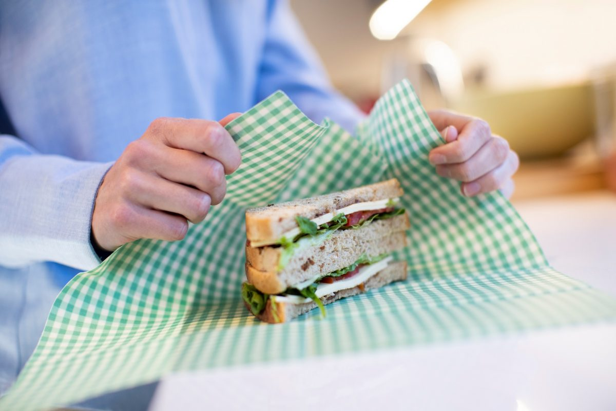 Beeswax-Wraps for sandwich