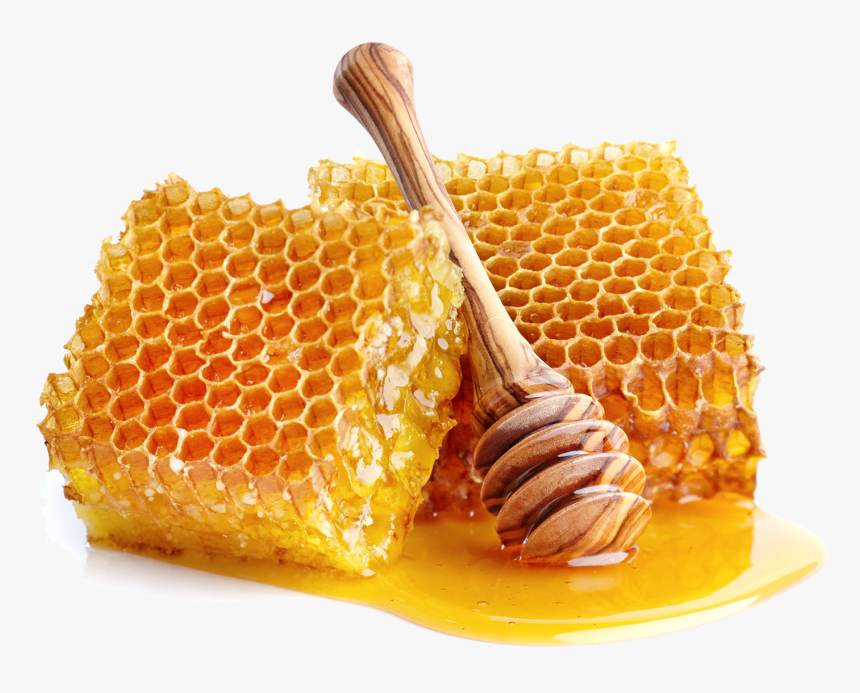Honeycomb and spoon