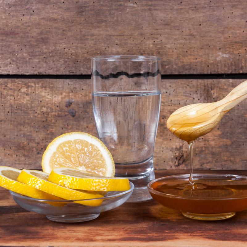 Honey water and lemon