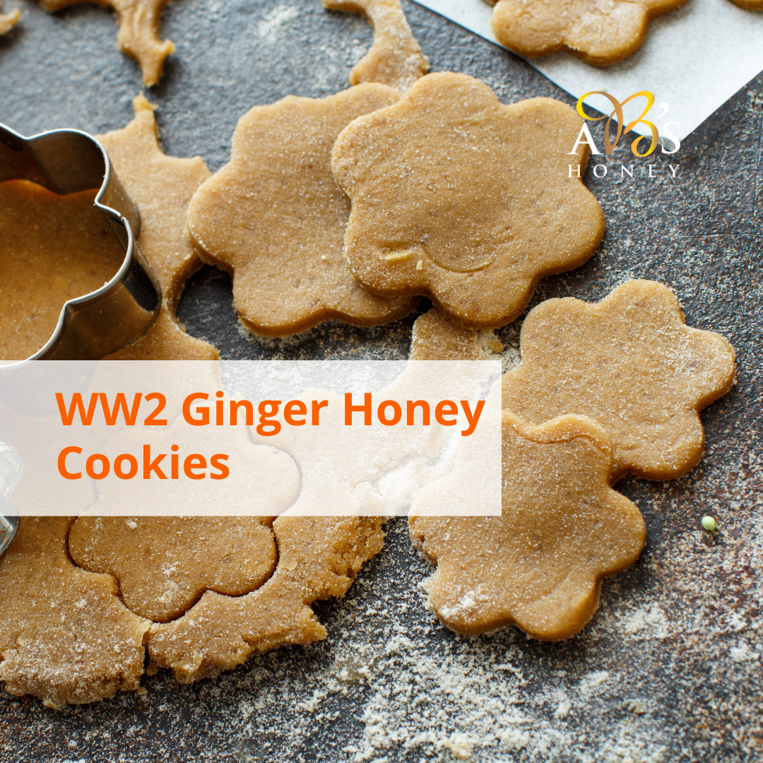 ww2 ginger honey cookies recipe card