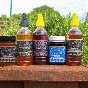 Honey Lovers Pack of table honey and gourmet honey