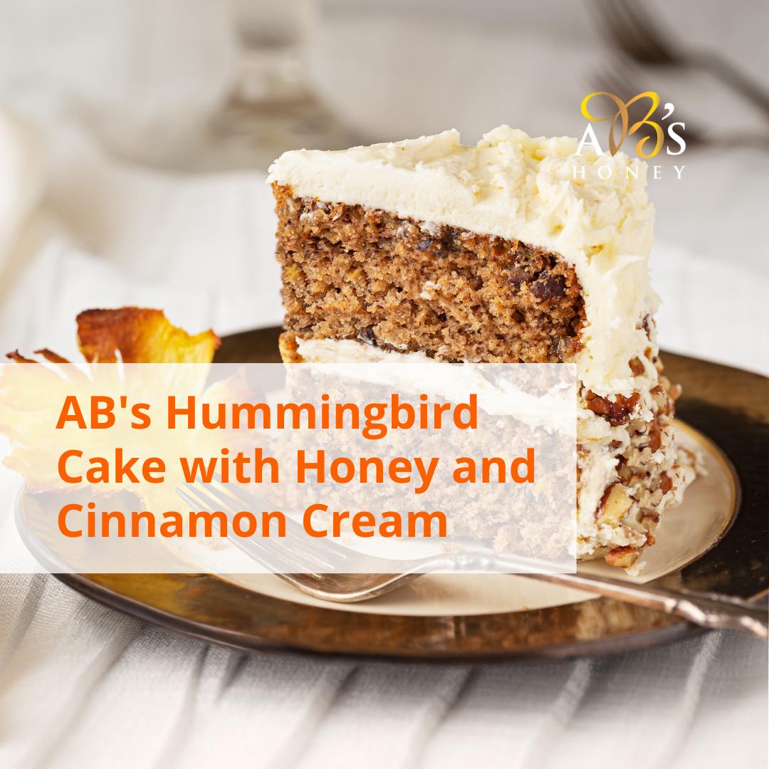 Hummingbird cake recipe card